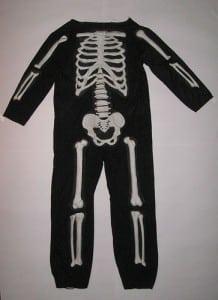 disfraz de esqueleto casero adulto