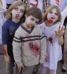 disfraz de zombies infantiles caseros