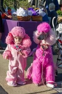 disfraz de perros rosas