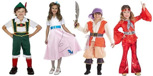 Los 10 Disfraces para niños más vendidos