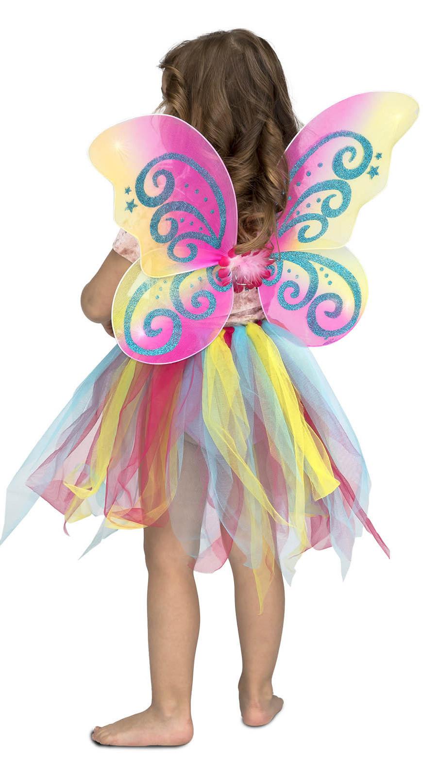 disfraz de mariposa arcoiris con alas niña