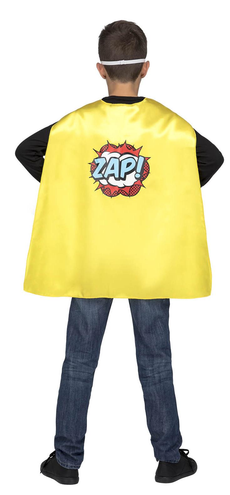 capa de superheroe amarilla infantil 4