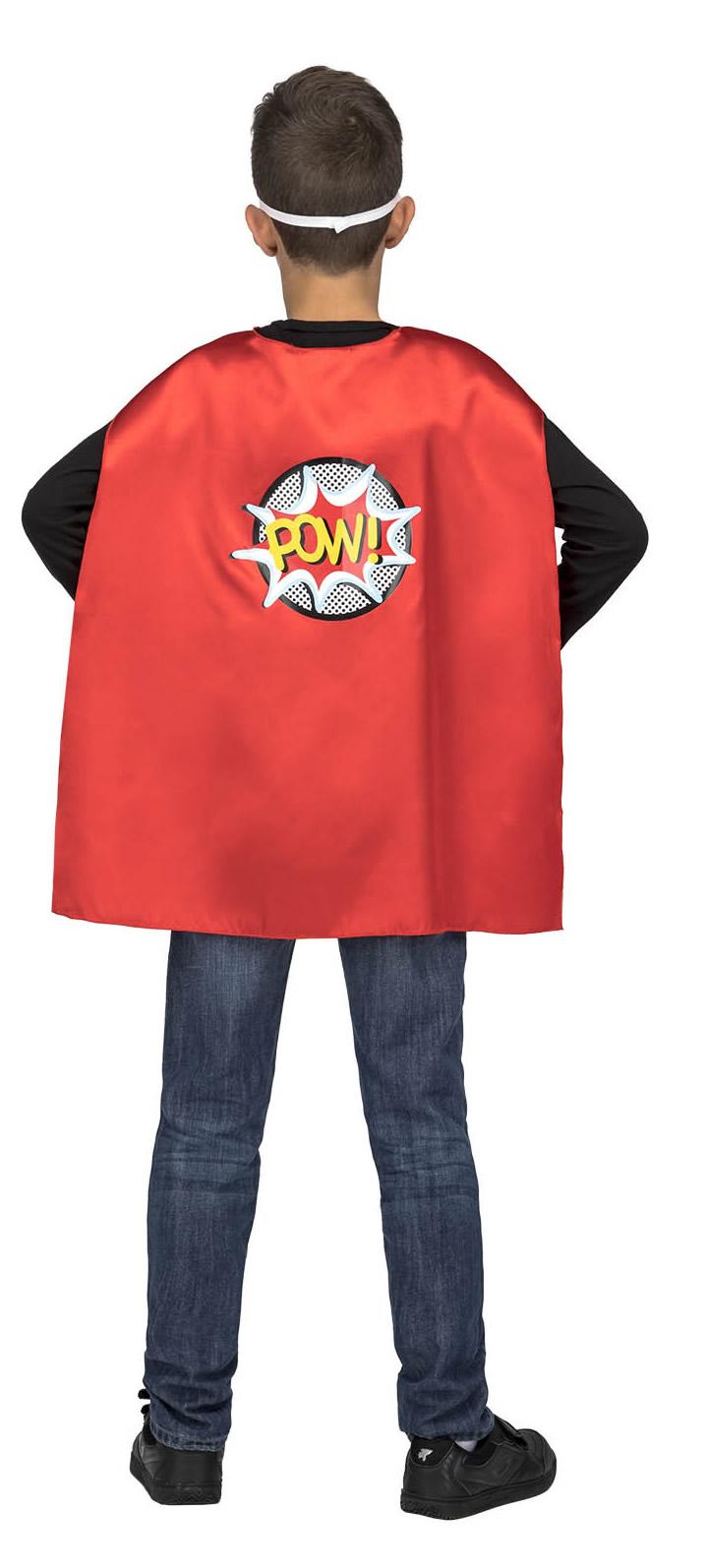 capa de superheroe roja infantil 4