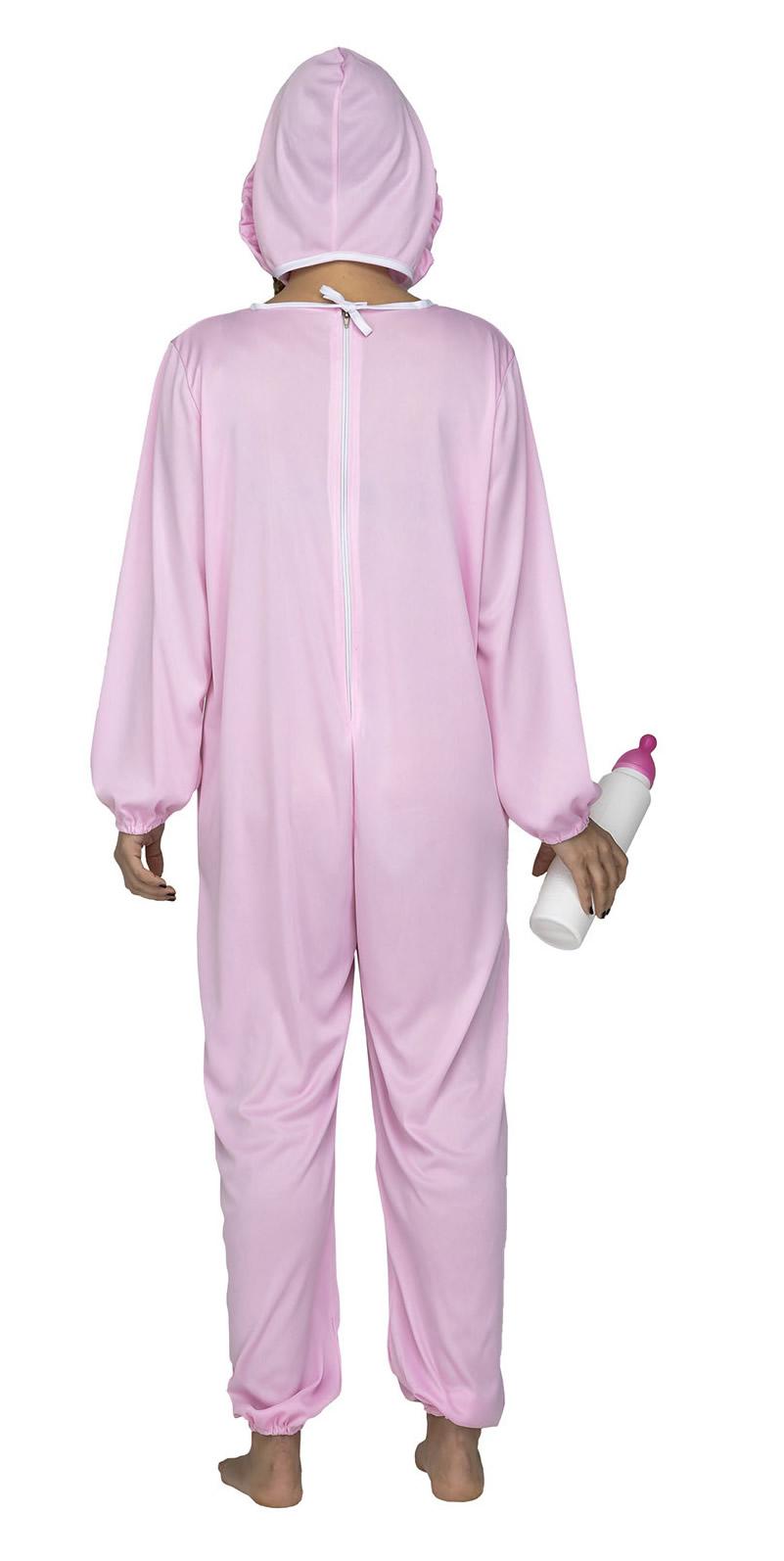 disfraz de bebe rosa para mujer