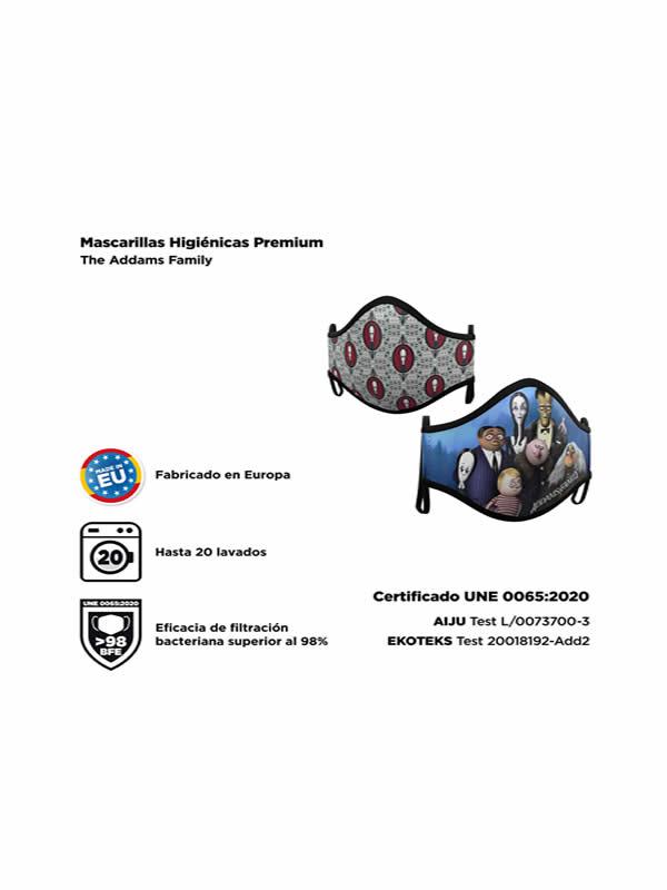mascarilla reutilizable family addams