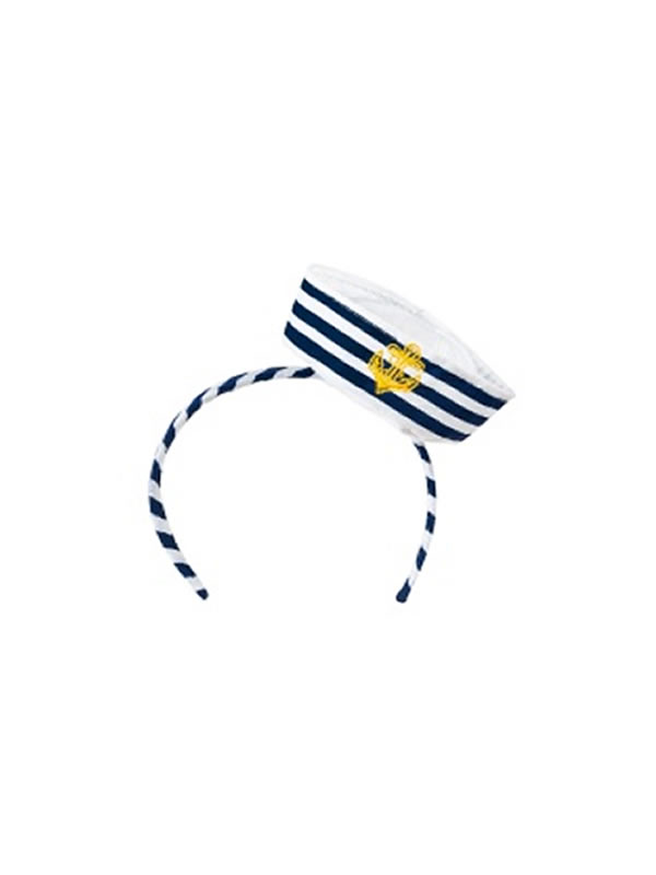 mini gorrito de marinera con diadema