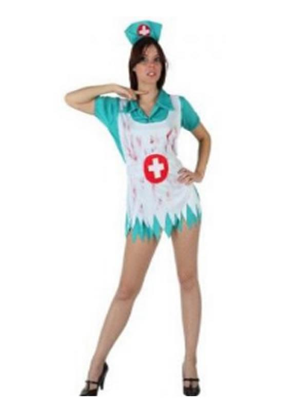 disfraz de enfermera sangrienta de mujer