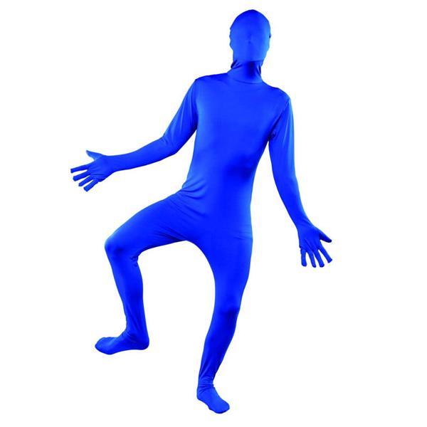 disfraz de morphsuits azul adulto