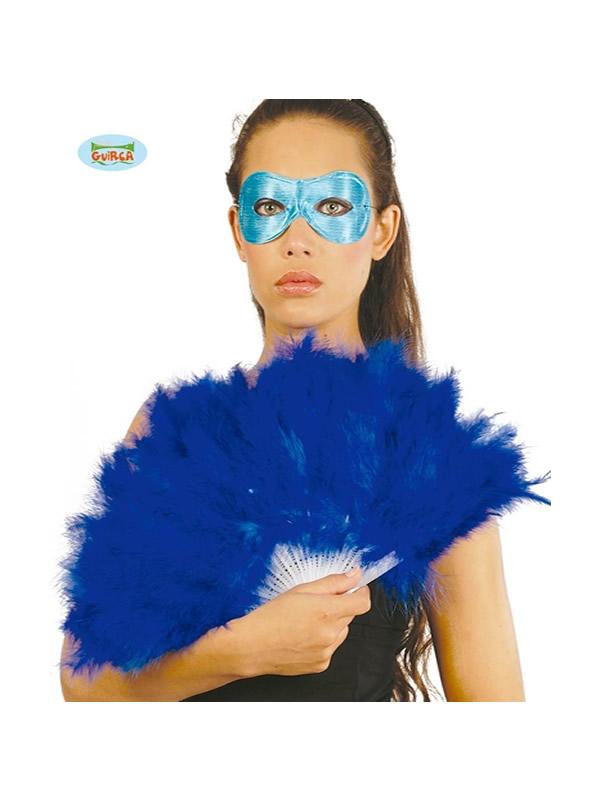 abanico de plumas azul 16 palas