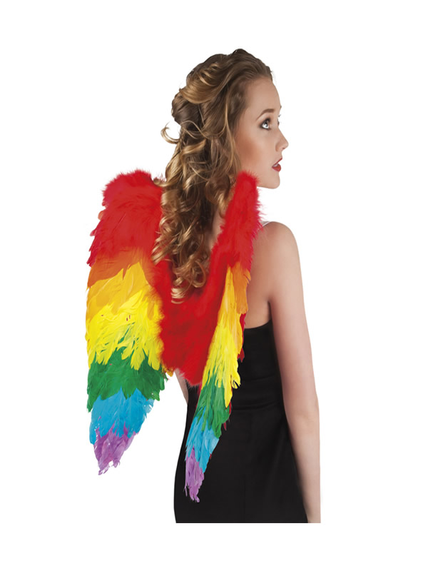 alas de angel arcoiris para mujer