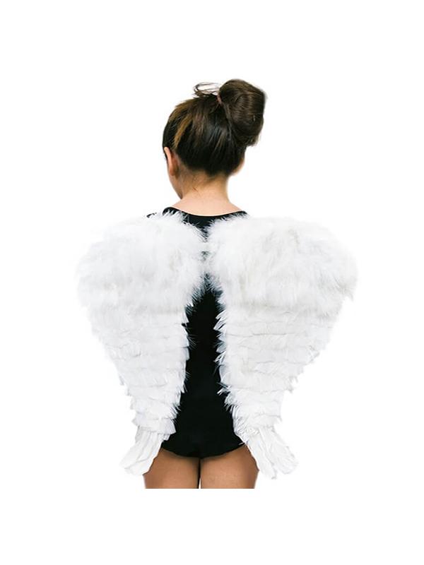 alas de angel con plumas blancas 48 cm
