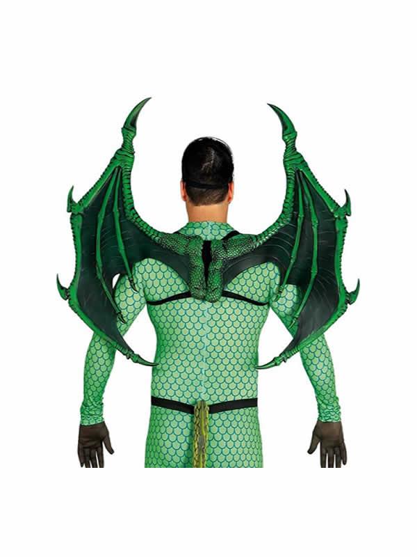alas de dragon verdes 100 x 80 cm