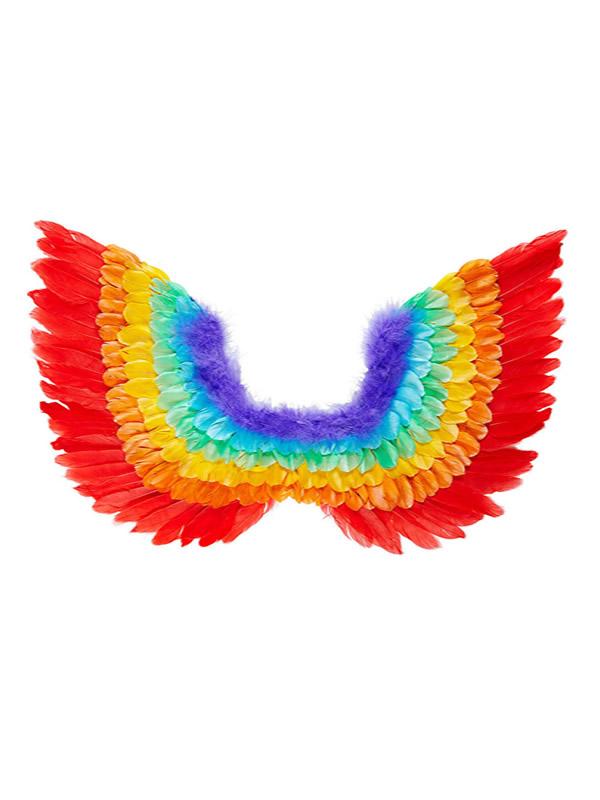 alas de plumas arcoiris para adulto 38x52cm