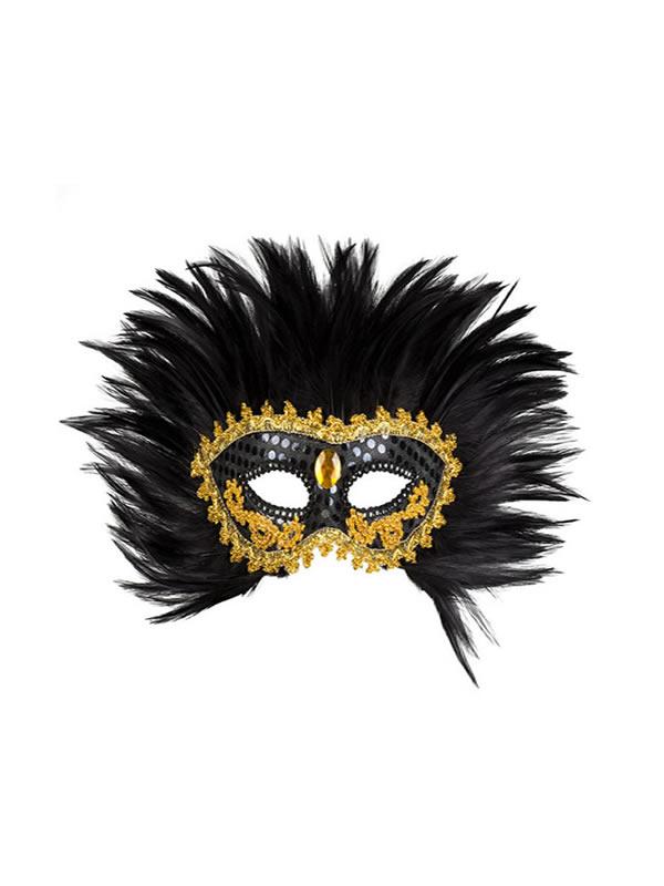 antifaz veneciano plumas negras adulto