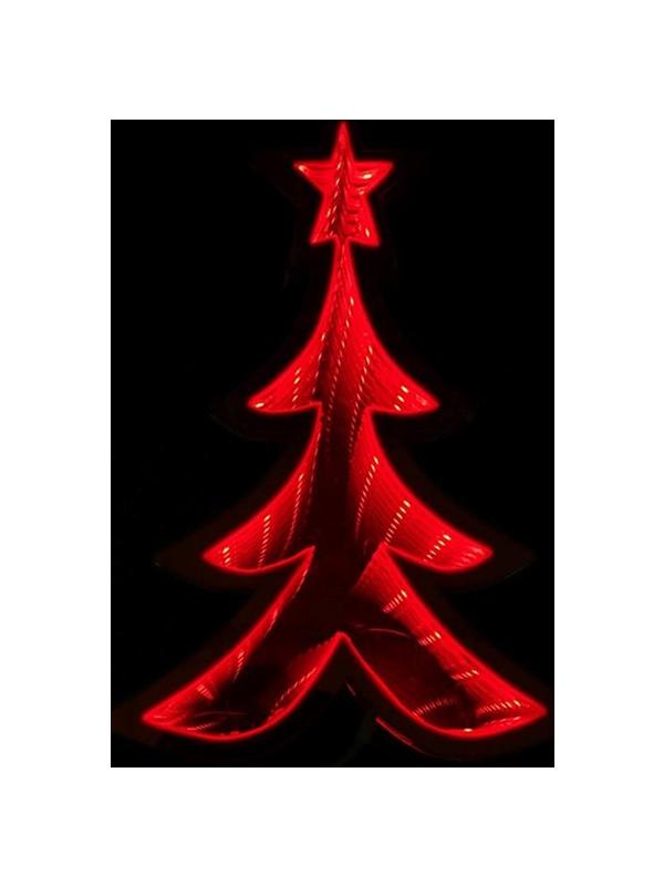 arbol rojo con luz infinita 20 cms navidad