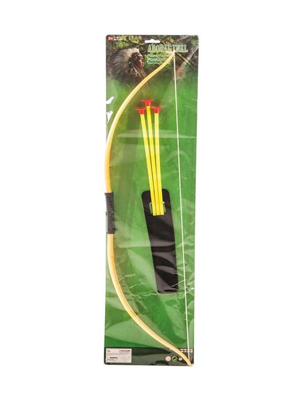 arco con 3 flechas de indio de 71 cm