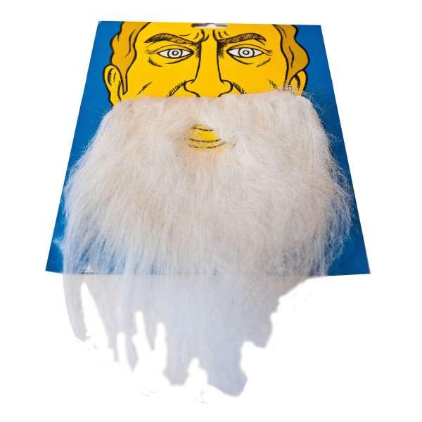 bigote con barba espesa blanca