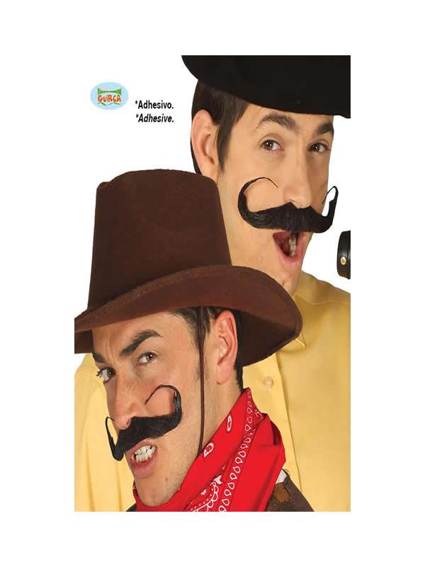 bigote rizado negro adulto