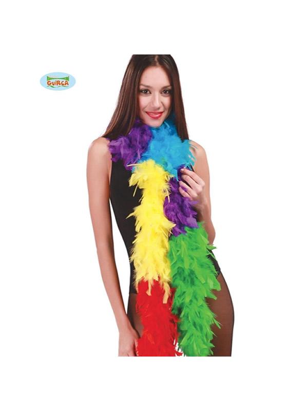 boa pluma multicolor 180 cms 40 gramos