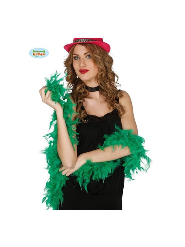 boa pluma verde 180 cms 40 gramos