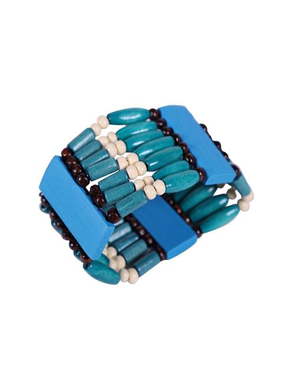 brazalete indio azul 8 cm de diametro