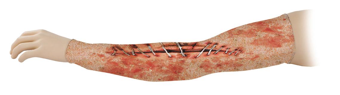 brazo con tatuaje cicatriz estampado de licra
