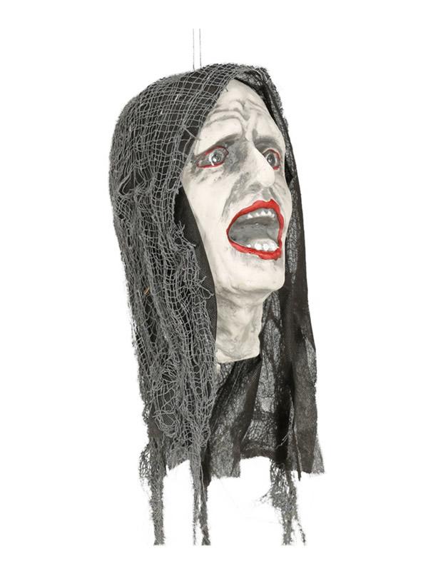 cabeza colgante zombie con luz