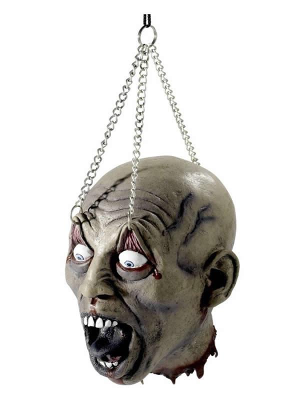 cabeza decapitada colgante halloween