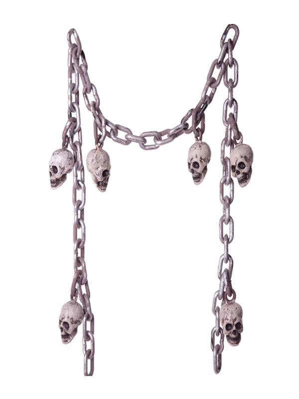 cadenas de calaveras 210 cm
