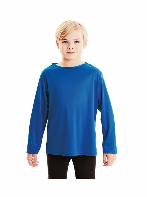camiseta azul basica infantil