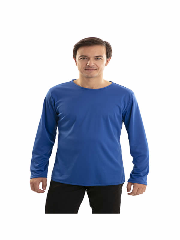 camiseta azul adulto