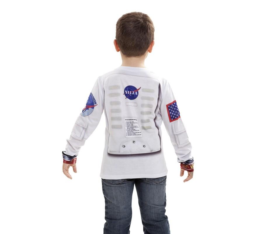 camiseta disfraz astronauta para niño