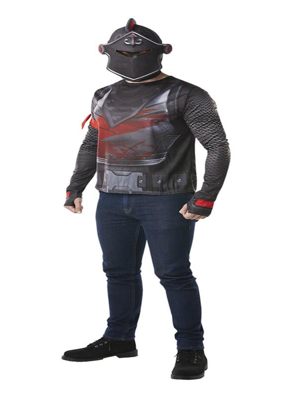 camiseta disfraz con capucha black knight fortnite hombre