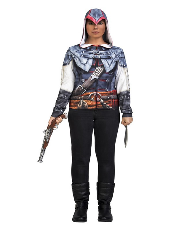 camiseta disfraz de aveline assassins creed mujer