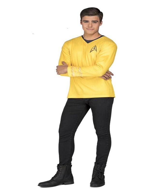 camiseta disfraz de capitan kirk star trek hombre
