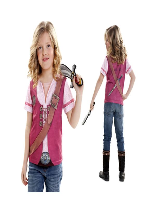 camiseta disfraz pirata para niña