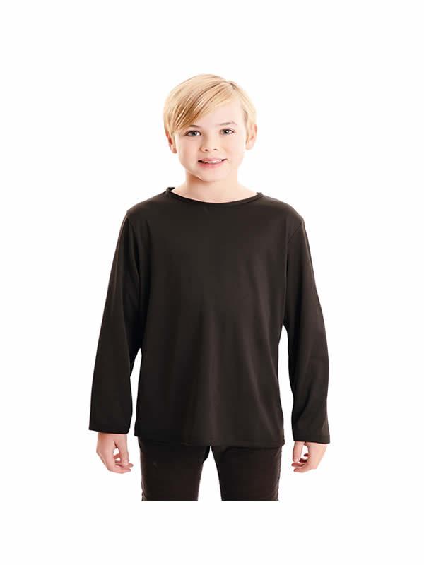camiseta negra basica infantil
