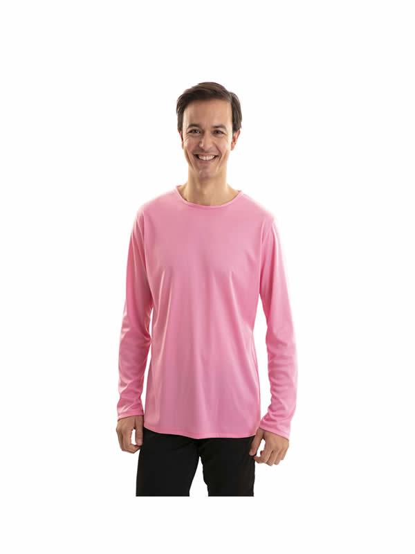 camiseta rosa adulto