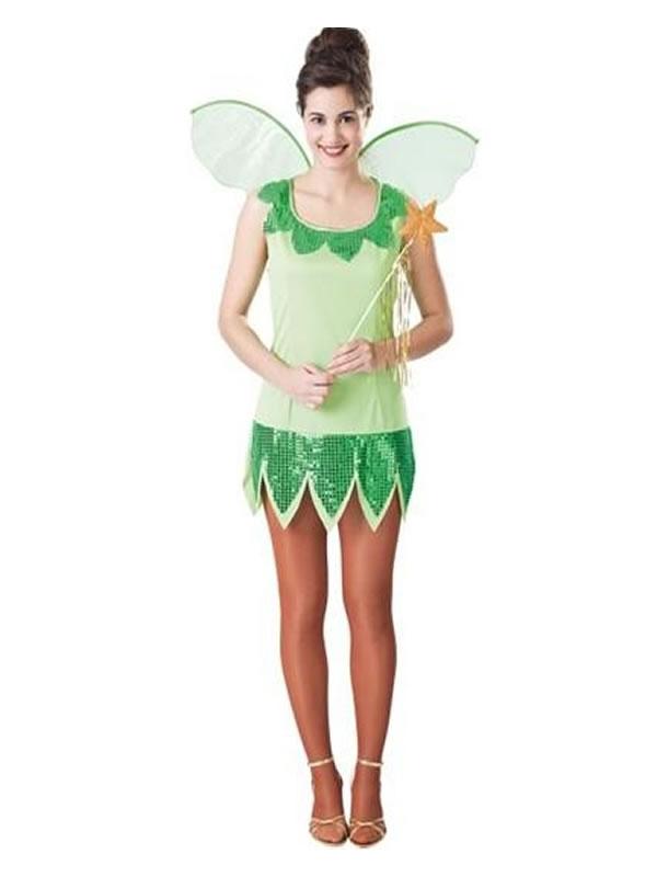 disfraz de campanilla verde mujer adulto