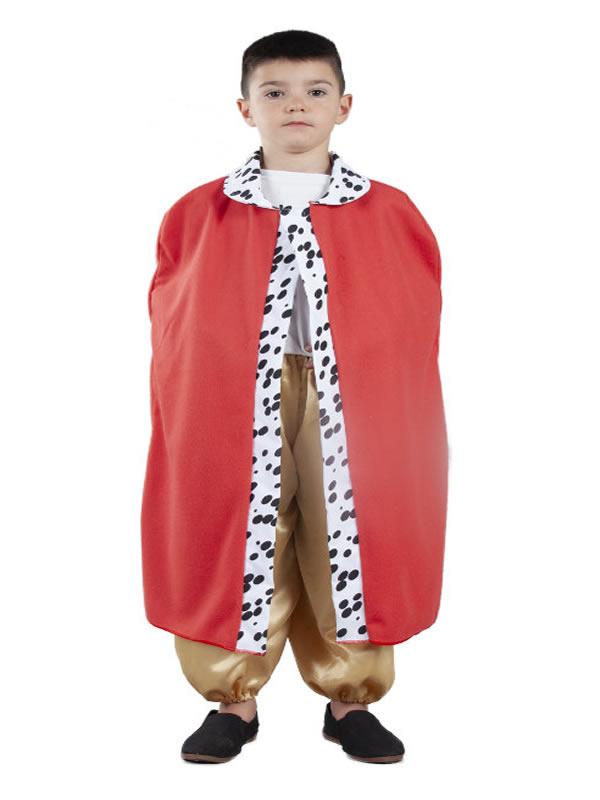 capa de rey mago roja infantil