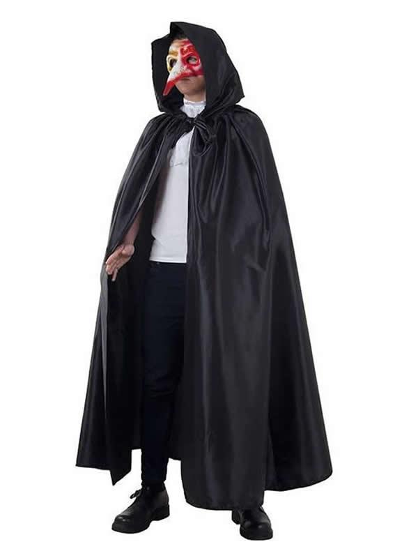 capa de veneciana negra adulto