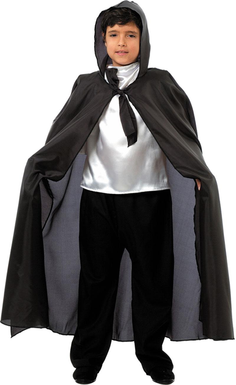 capa larga negra vampiro infantil