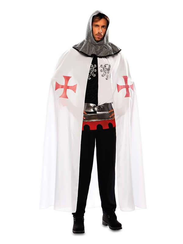 capa medieval blanca adulto