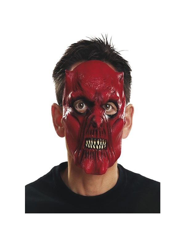 careta de demonio rojo