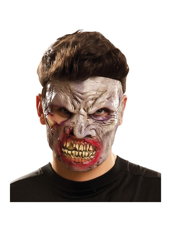 careta de zombie rabioso