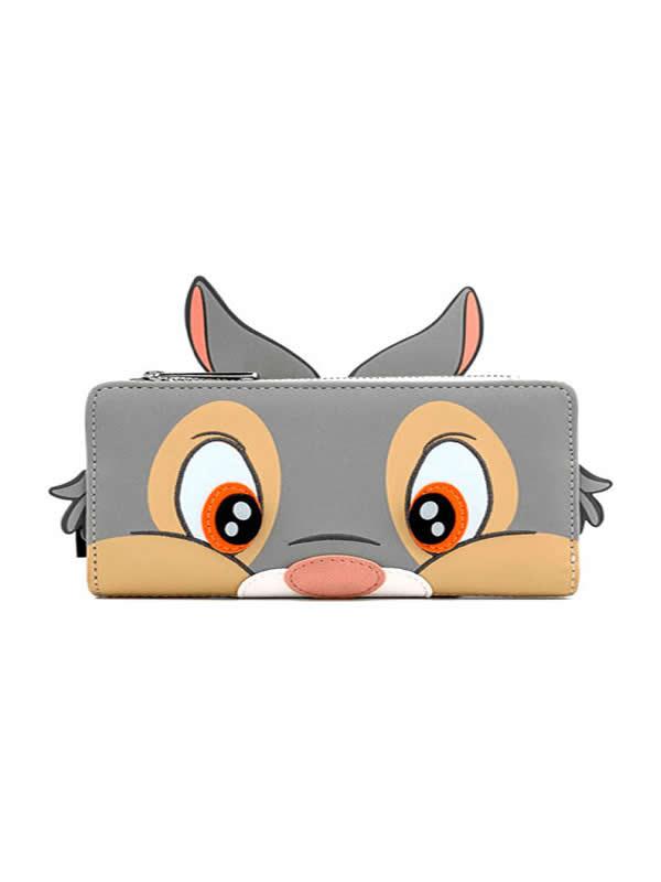 cartera monedero tambor bambi disney loungefly gris