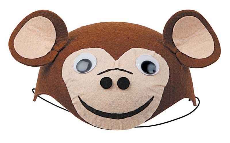 casquete de mono marron fieltro