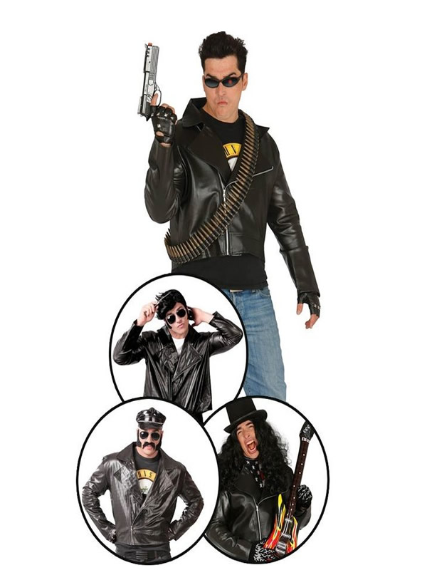 cazadora disfraz de motorista hombre