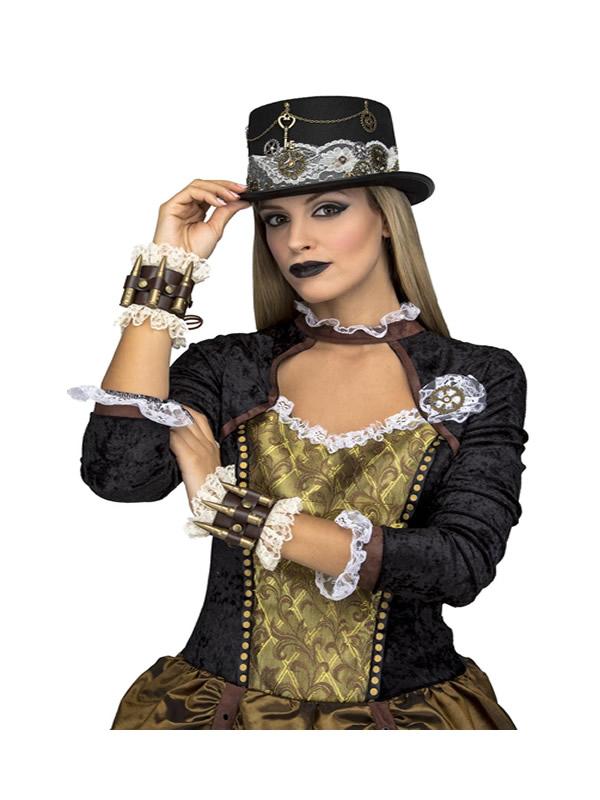 chistera steampunk negra mujer