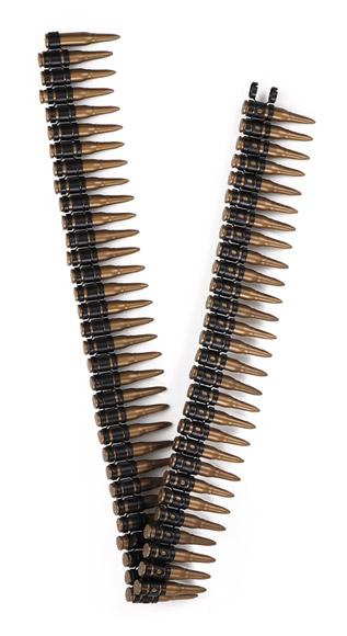 cinturón de balas plastico de 100 cm